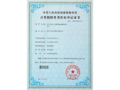 计算机软件著作权登记证书(水泥土搅拌桩检测系统)